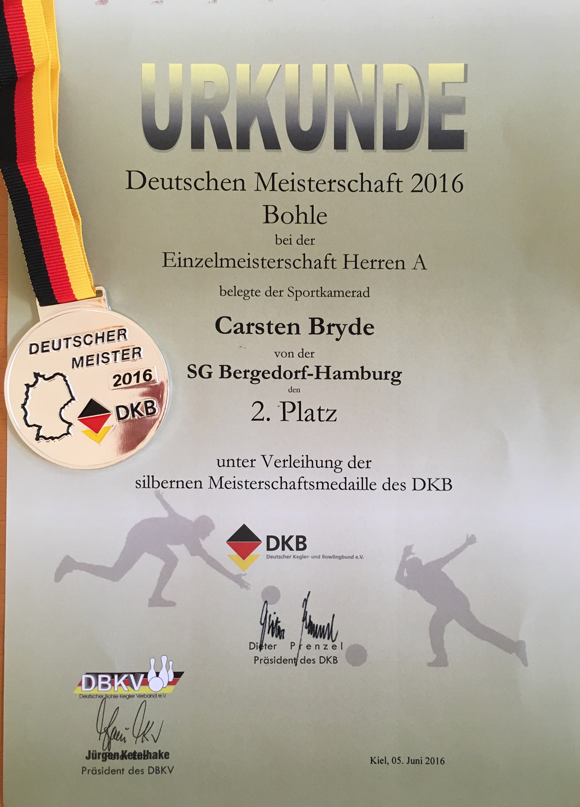 Carste Bryde - Deutscher Vizemeister Herren A Einzel